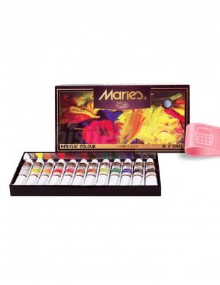 MARİE'S - Marie's Akrilik Boya Seti - Her Tüp 12 ml - 12 renk