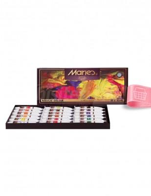 MARİE'S - Marie's Akrilik Boya Seti - Her Tüp 12 ml - 18 renk