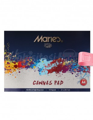 MARİE'S - Marie's Canvas Pad, Dokulu Defter - A4 10 Yaprak