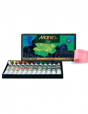 MARİE'S - Marie's Guaj Boya Seti - Her Tüp 12 ml - 12 renk