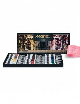 MARİE'S - Marie's Yağlı Boya Seti - Her Tüp 12 ml - 18 renk