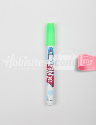 MARVY - Marvy Fabric Marker - Kumaş ve T-Shirt Kalemi - FL Green - 2 ml