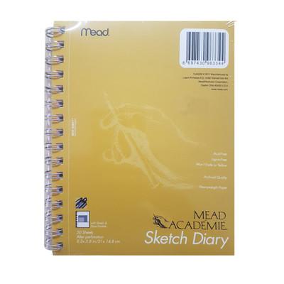 MEAD - Mead Academie Sketch Diary - Taslak ve Çizim Defteri - A5 50 Yaprak