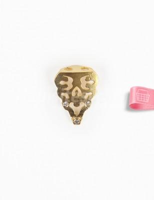 - Metal Ayak - Altın Taşlı - 2,5 cm - No: 10