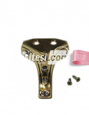 - Metal Ayak - Altın Taşlı - 3 cm - No 3