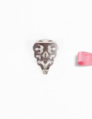 - Metal Ayak - Gümüş Taşlı - 2,5 cm - No: 11