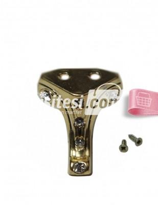 - Metal Ayak - Gümüş Taşlı - 3 cm - No 4