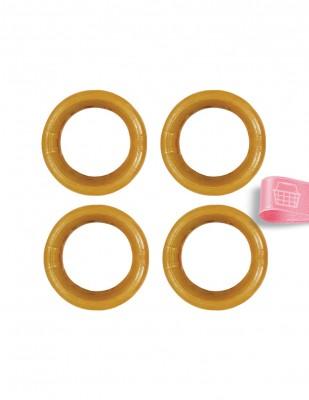 - Plastik Halka - Kahverengi - Çap : 4 cm - 4 Adet