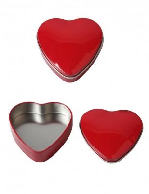 - Metal Kalp Kutu - Çap 9 cm