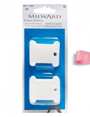 MILWARD - Milward İplik Sarma Kartı - Plastik - 30 Adet