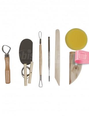 - Pottery Tool Kit, Modelaj Seti - 8 Parça
