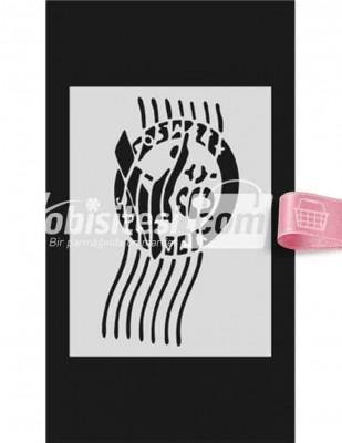 MOOD - Mood Stencil - Yapışkanlı - 9 x 16 cm - S072