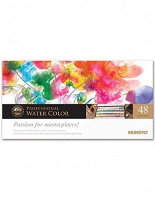 MUNGYO - Mungyo Professional Watercolor Sulu Boya Seti - Half Size - 48 Renk