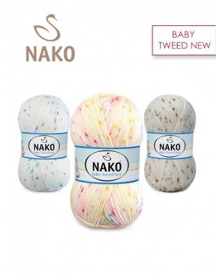 NAKO - Nako Baby Tweed New El Örgü İplikleri (1)