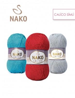 NAKO - Nako Calico Simli El Örgü İplikleri