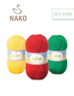 NAKO - Nako Elit Baby El Örgü İplikleri