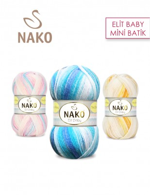NAKO - Nako Elit Baby Mini Batik El Örgü İpliği