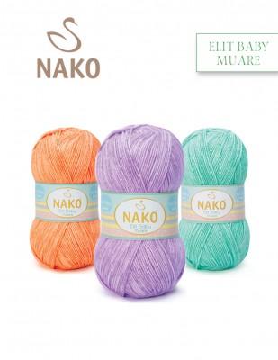 NAKO - Nako Elit Baby Muare El Örgü İplikleri
