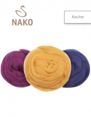 NAKO - Nako Keche Yünü, % 100 Keçe Yün - 50 Gr / 2,5 m