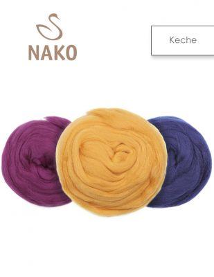 Nako Keche Yünü, % 100 Keçe Yün - 50 Gr / 2,5 m