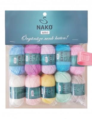 NAKO - Nako Mini El Örgü İplikleri - 10 Adet / Paket - No 9