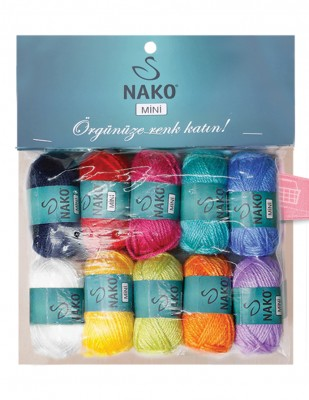 NAKO - Nako Mini El Örgü İplikleri - 10 Adet / Paket - No 7