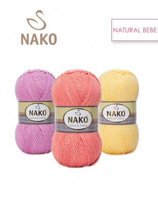 NAKO - Nako Natural Bebe El Örgü İplikleri