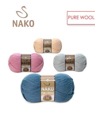 NAKO - Nako Pure Wool El Örgü İplikleri - %100 Yün - BU ÜRÜN 5 ADET / PAKET OLARAK SATILMAKTADIR