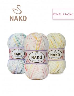 NAKO - Nako Renkli Masal El Örgü İplikleri