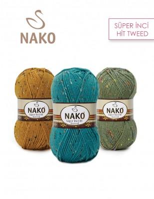 NAKO - Nako Süper İnci Hit Tweed El Örgü İplikleri