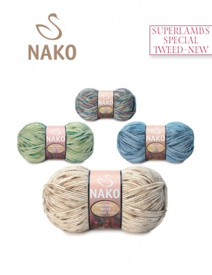 NAKO - Nako Superlambs Tweed New El Örgü İpliği