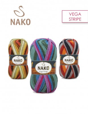 NAKO - Nako Vega Stripe El Örgü İplikleri