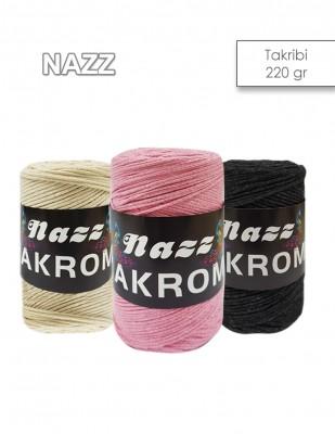 - Nazz Cotton Makrome El Örgü İplikleri - 220 gr