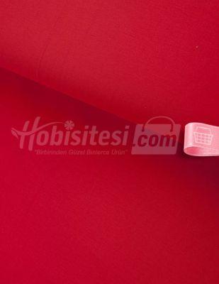 Nevresimlik Düz Akfil Kumaş - Kırmızı - En 240 cm