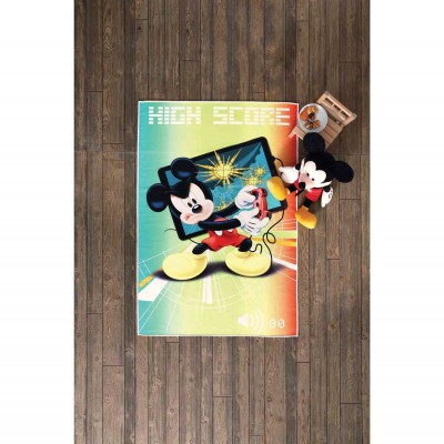 - No Name Disney Mickey High Score Halı - 80x140 cm