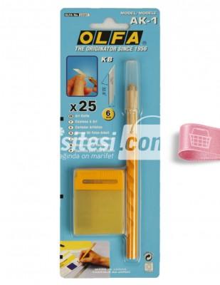 OLFA - Olfa Kretuar - AK1 25 Adet Yedek Bıçak - 6 mm