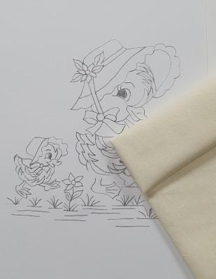 - Panç Nakış Seti - 25 x 25 cm - Anne ve Yavru Ördek (1)