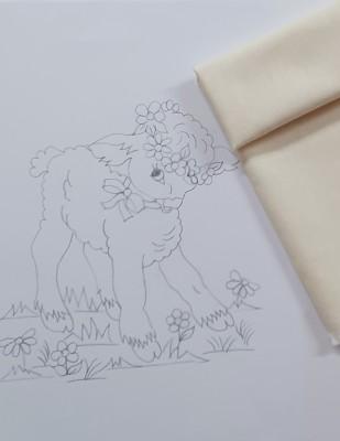- Panç Nakış Seti - 25 x 25 cm - Kuzu (1)