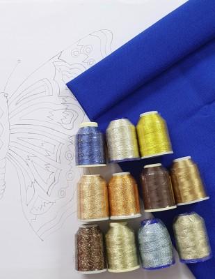 - Panç Nakış Seti - 40 x 40 cm - Mavi Kelebek
