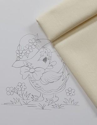 - Panç Nakış Seti - 25 x 25 cm - Şapkalı Ördek (1)