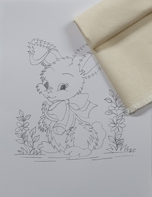 - Panç Nakış Seti - 25 x 25 cm - Tavşan (1)