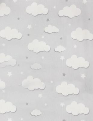 - Pazen Kumaş - Bulut Desenli - En 240 cm - Gri