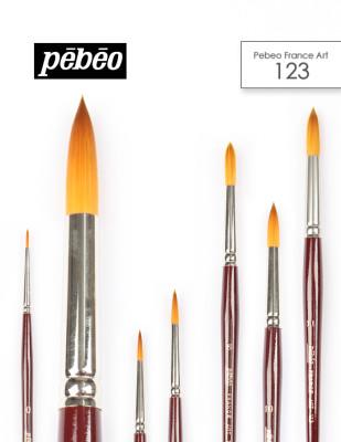PEBEO - Pebeo 123 Seri Çok Amaçlı Yuvarlak Uçlu Fırçalar