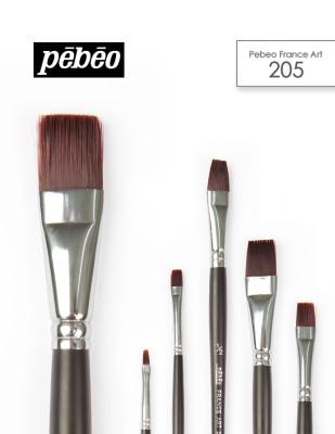 PEBEO - Pebeo 205 Seri Çok Amaçlı Fırçalar - Düz Kesik Fırçalar