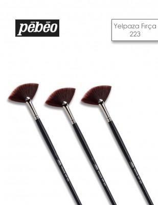 PEBEO - Pebeo 223 Seri Yelpaze Fırçalar - Sentetik Kıl, Uzun Sap