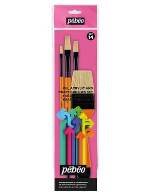 PEBEO - Pebeo Çok Amaçlı Fırça Seti - 4lü Fırça - Set 14