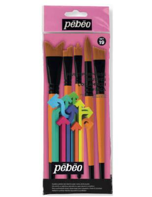 - Pebeo Fırça Seti - Çok Amaçlı 5li Fırça - Set 19