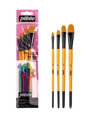 PEBEO - Pebeo Çok Amaçlı Fırça Seti - Kedi Dili 4lü Fırça Seti - Set 11