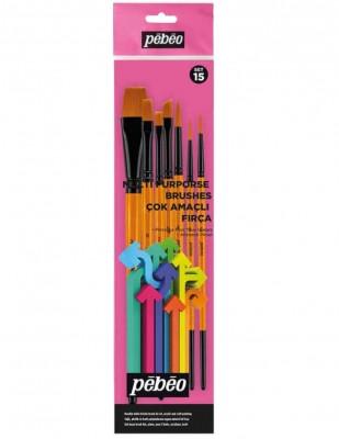 PEBEO - Pebeo Çok Amaçlı Fırça Seti - 7li Karma Fırça Seti - Set 15
