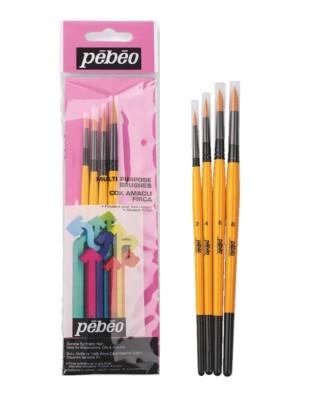 PEBEO - Pebeo Çok Amaçlı Fırça Seti - Yuvarlak Uçlu 4lü Fırça Seti - Set 2